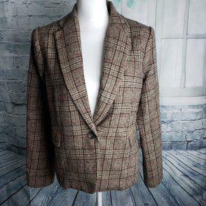 Hem and Thread Tweed Style Blazer Jacket